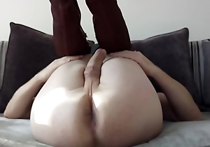 Nickys wide open asshole close-up with cumshot