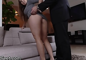 Take charge Babe Lena Paul Gets Cummy Feet After Fuck