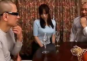 Subservient japanese join in matrimony cheating blowjob then get toys and flower plugged up her ass while husband sleeping