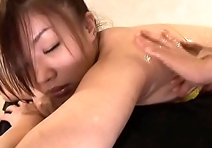Nana Kawai  High-leg bikini panic-stricken legs-fetish oil massage image video solo