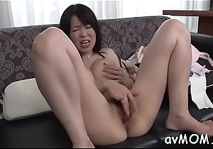 Floozy milf takes expansive sex toy in ass and cunt while she moans