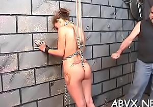 Naughty amateur movie instalment with girl enduring pussy stimulation