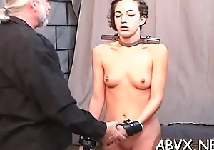 Rough lesbian bondage in non-professional scenes along sexy babes