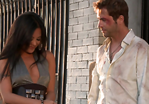 Gorgeous Kaylani Lei gets her vulva munched increased by fucked rear end style
