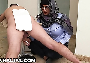 MIA KHALIFA - Your Favourite Arab Pornstar Milking Two Dicks Just For Fun