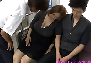 Heavy tits asian drilled on train