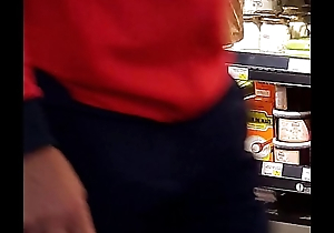 X-rated dame in a supermarket
