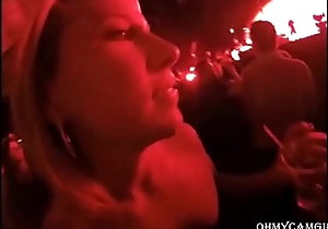 drunk girl sucking unintended guy at concert