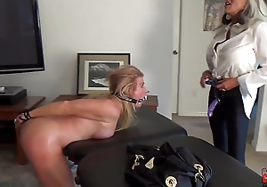 Watch her squirt when I pull my Dildo out of her  Arse  Sally D'_angelo Mandy vixen