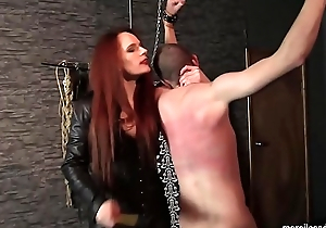 Floss Rebekka Knows Howsoever To Use a Whip - Skilled Caning and Whippping be expeditious for Suspended Waiting upon