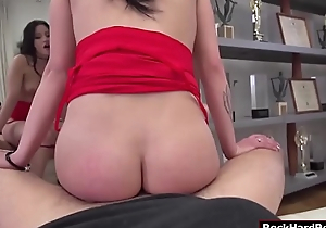Busty Emily gets will not hear of cum-hole fucked by Rocco